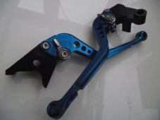 Kawasaki NINJA 300R (13-16), CNC levers long blue/chrome adjusters, F25/K25